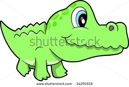 450x303 Cute Alligator Nursery Clipart