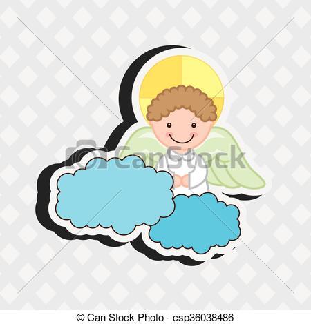 450x470 Cute Angel Design Cute Angel Design, Vector Illustration