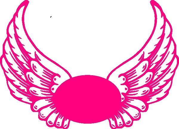 600x432 Hot Hot Pink Guardian Angel Wings Clip Art
