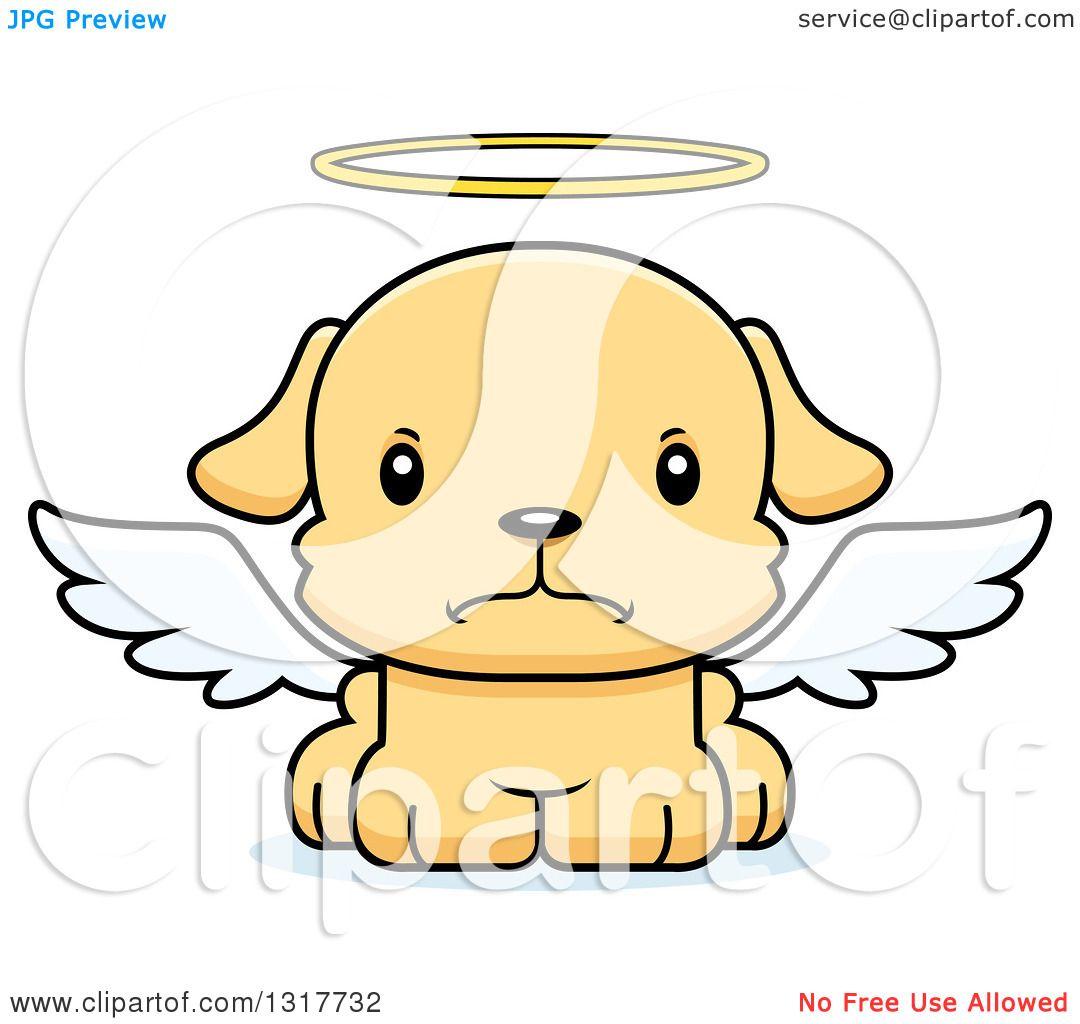 1080x1024 Animal Clipart Of A Cartoon Cute Mad Puppy Dog Angel