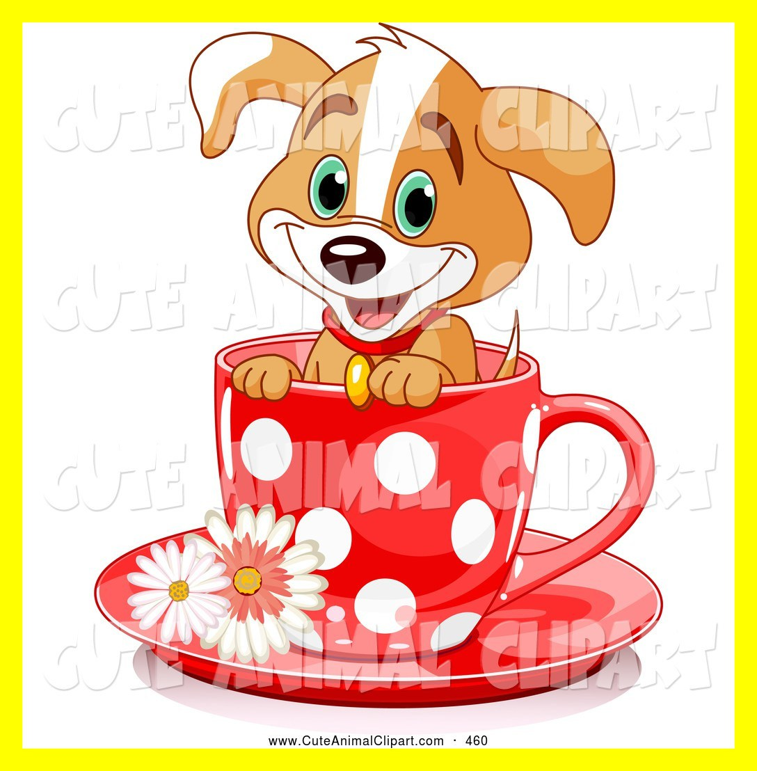 1088x1108 Fascinating Clip Art Of A Happy Adorable Puppy Dog In Red Polka