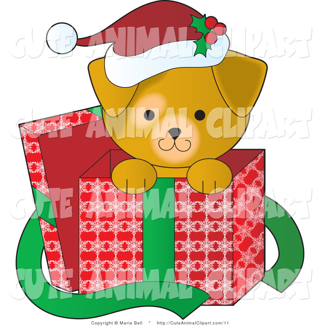 1024x1044 Clip Art Of A Cute Puppy Inside A Christmas Box By Maria Bell