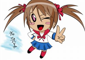 300x210 Clipart Japan Anime Chibi Clip Art Library Cute Girl Long Evening