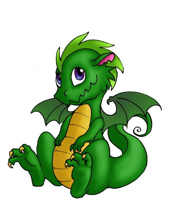 584x700 Green Dragon Clipart Cute Anime Dragons Clipart