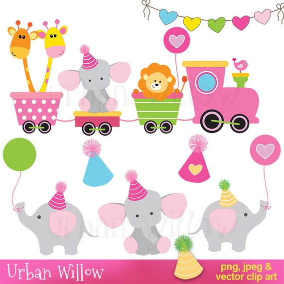 570x570 Digital Clip Art Cute Animals, Clipart Train, Baby Clipart, Baby