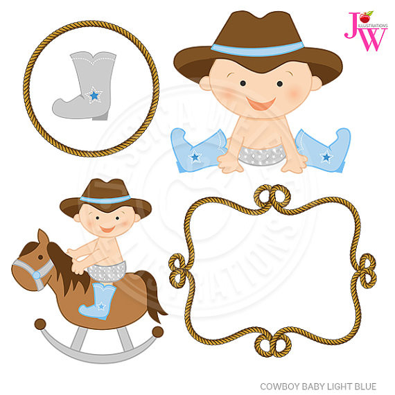 570x570 New Cowboy Hat Images Clip Art Light Blue Cowboy Baby Cute Digital