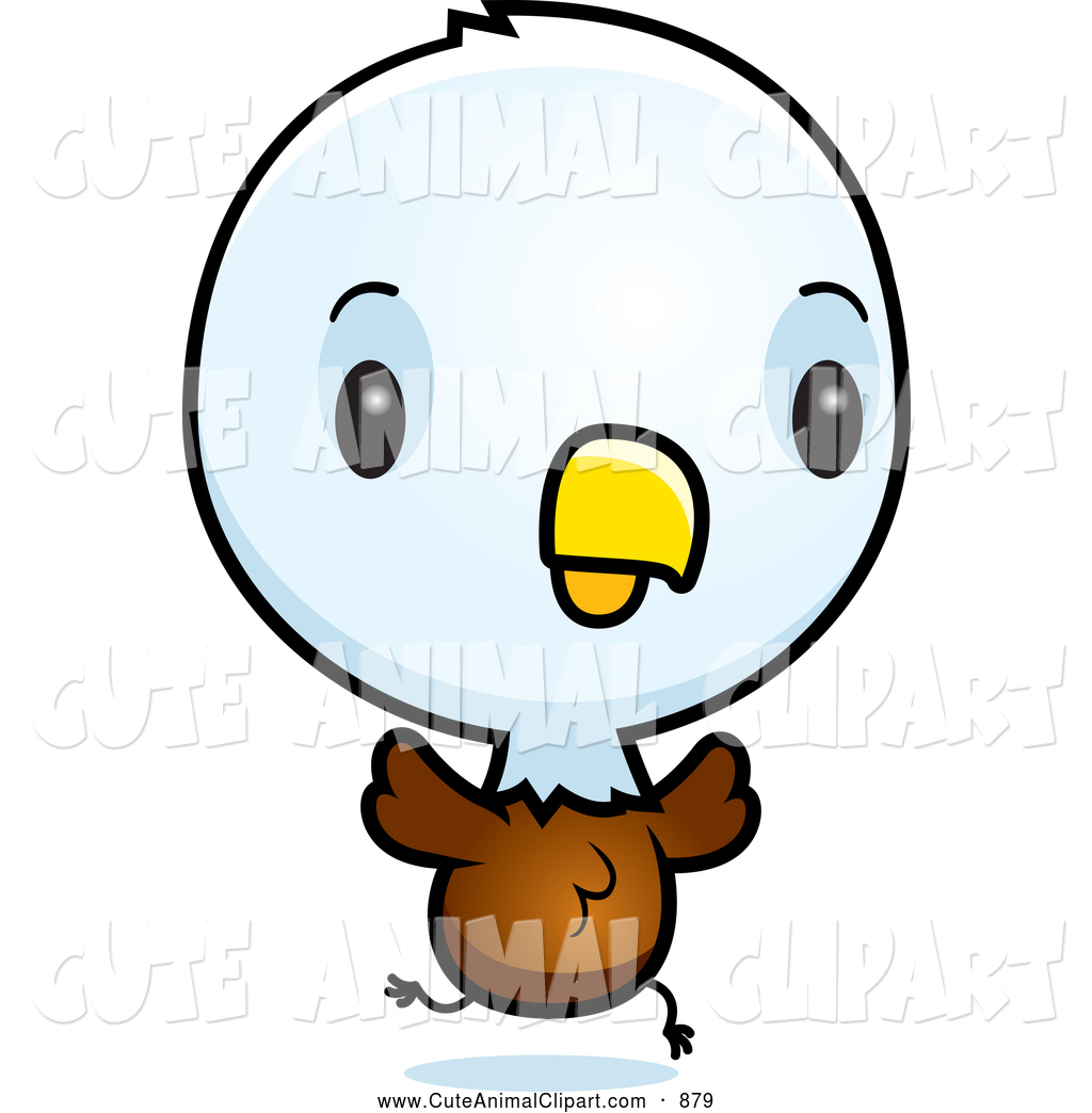 1024x1044 Vector Cartoon Clip Art Of A Cute Baby Bald Eagle Chick Running By