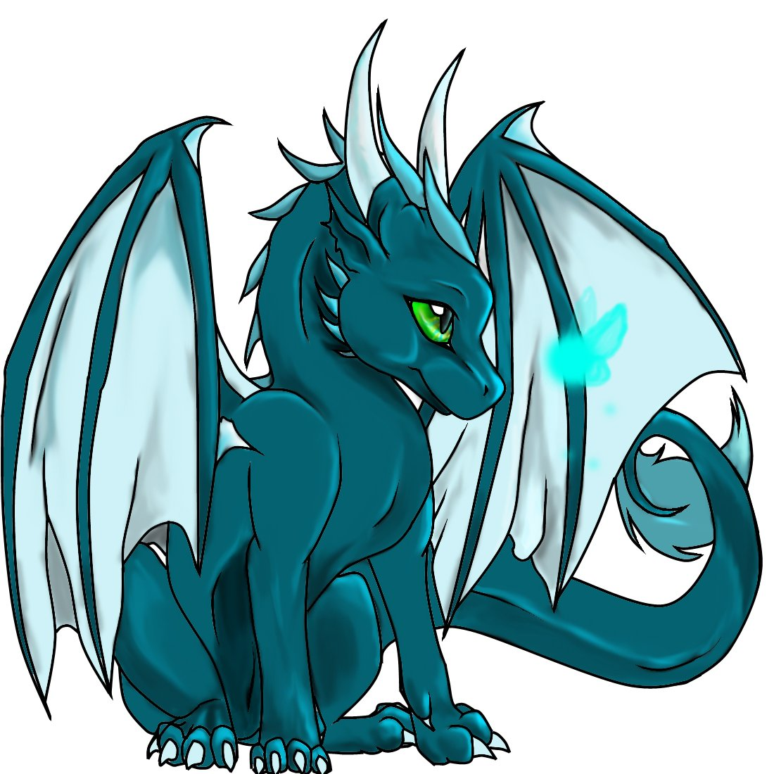 1100x1100 Blue Dragon Clipart Animated 3081348
