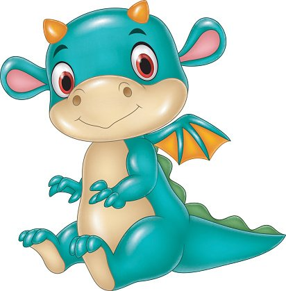 412x419 Cute Baby Dragon Premium Clipart