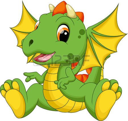 450x425 Cute Baby Dragon Cartoon Stock Vector Cuties