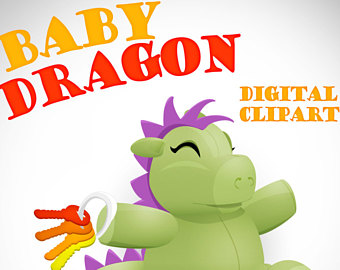 340x270 Cute Cartoon Dragon Etsy