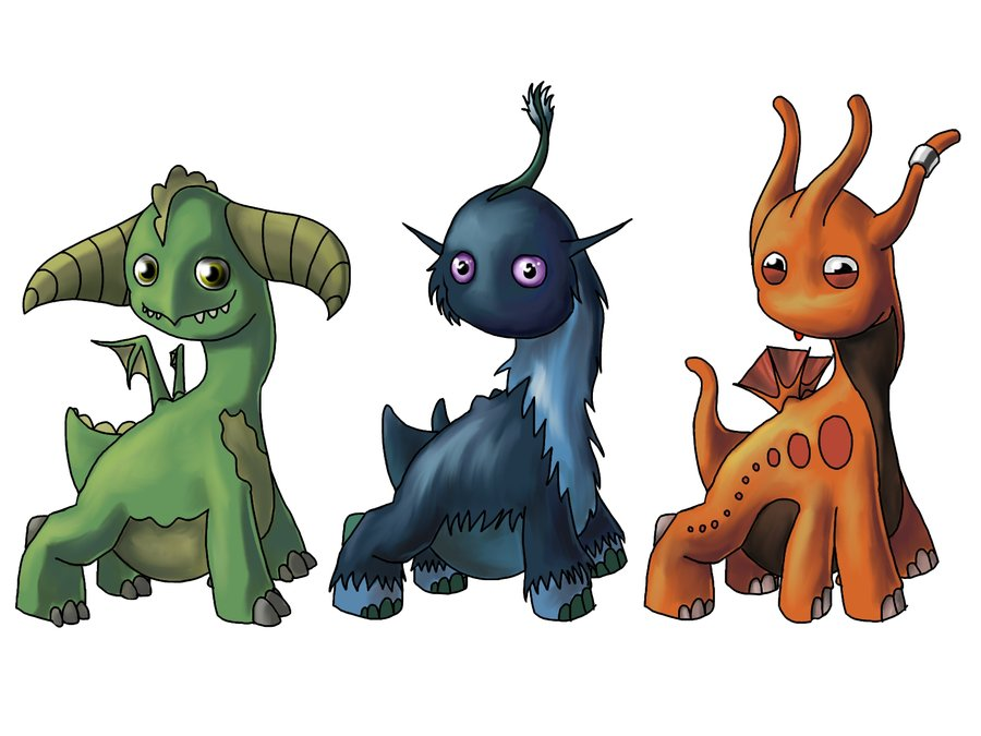 900x675 Little Dragon Clipart