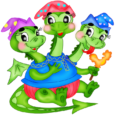 400x400 3 Headed Baby Dragon Mascot