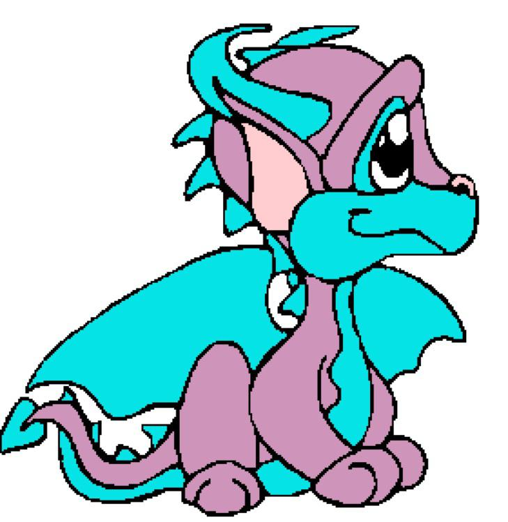 729x749 Baby Dragon Clipart