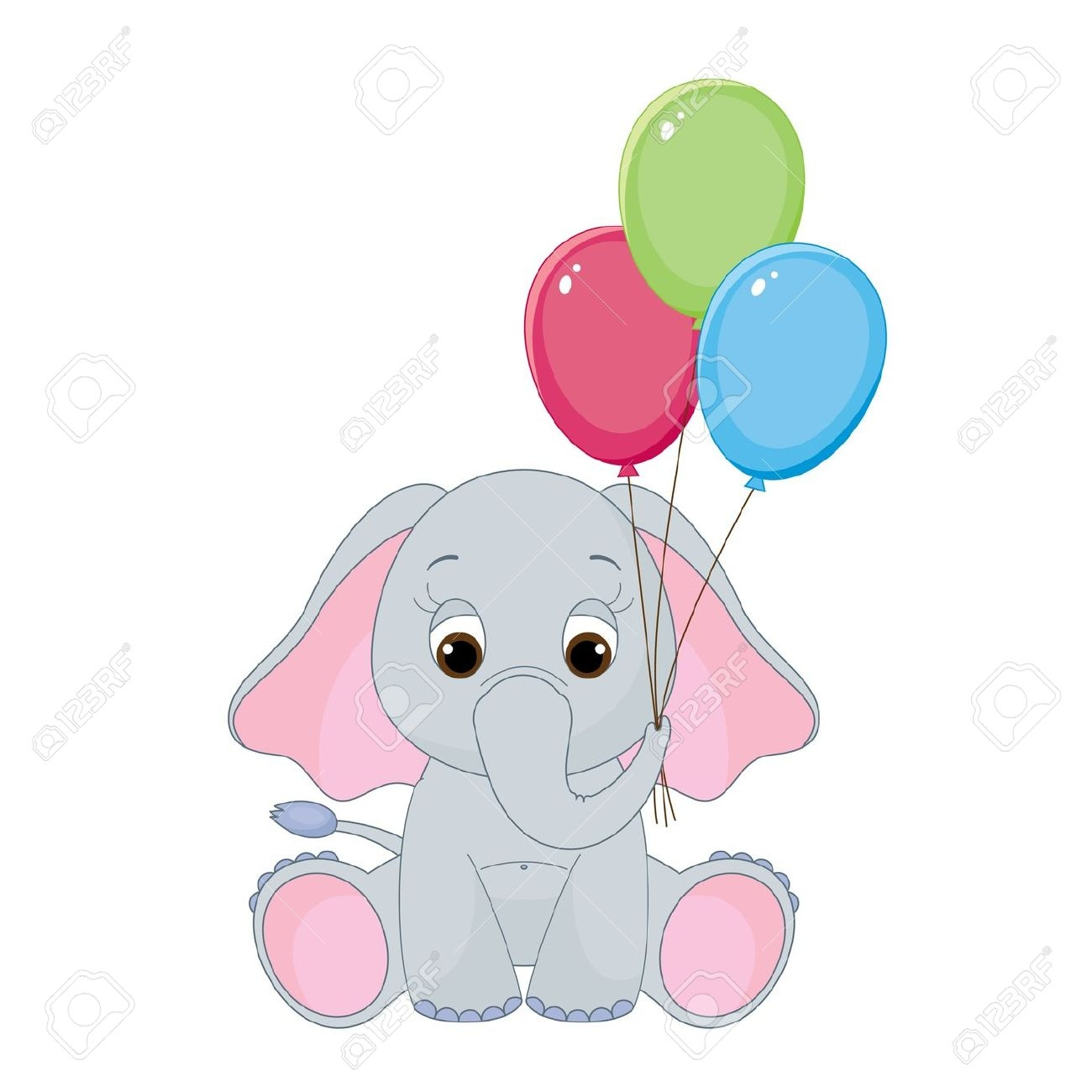 Cute Baby Elephant Clipart