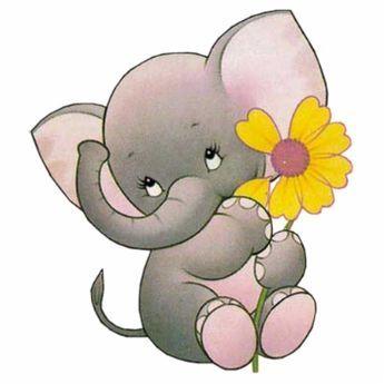 345x345 Cute Elephant Clip Art Logo Unhas Elements Set Elephant Cartoon