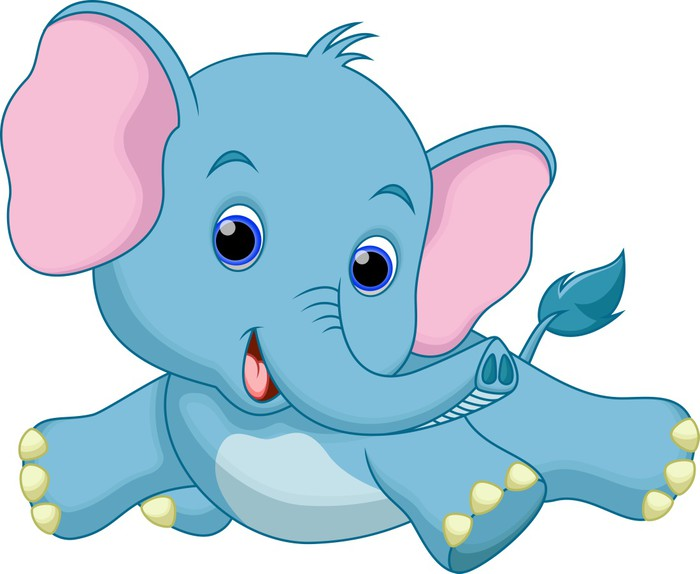 700x574 Cute Baby Elephant Cartoon Poster We Live To Change