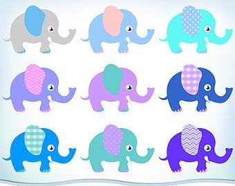 340x270 Elephant Clip Art Etsy Studio