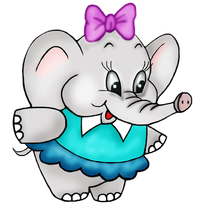 400x400 Cute Baby Elephant Clipart Free Clip Art Images.png