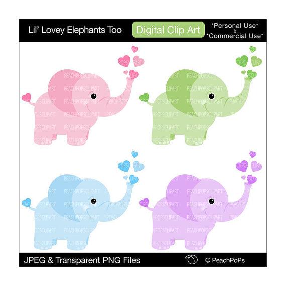 570x570 Cute Elephant Clip Art Digital Clipart Panda