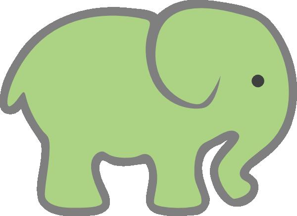 600x436 Baby Green Elephant Clip Art Clipart Panda