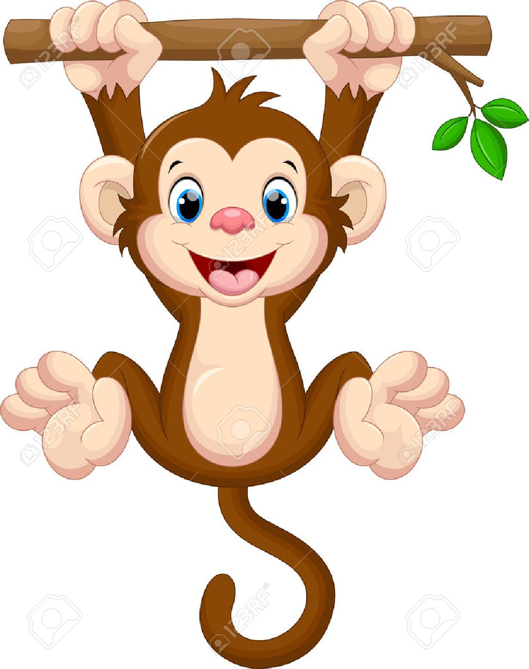 1029x1300 Cute Baby Monkey Clipart 50993708 Cute Baby Monkey Hanging On Tree