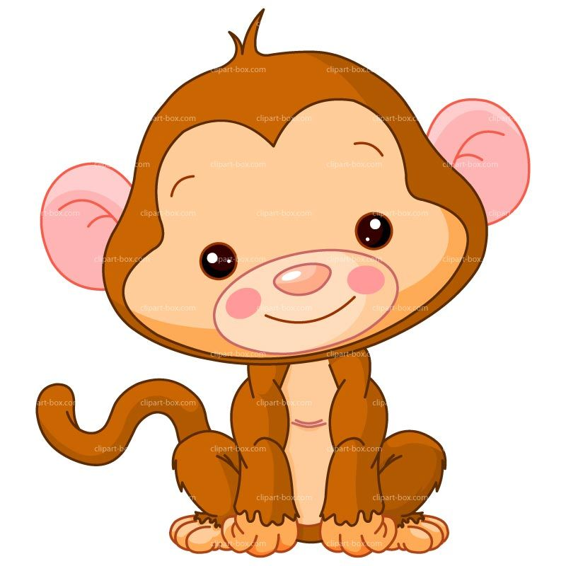 800x800 Baby Monkey Clip Art Clipart Baby Monkey Cute Baby Monkey Cartoon
