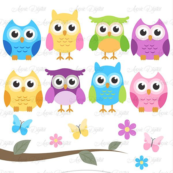 600x600 Owl Art Clipart Cute Owl Clipart Scrapbooking Printables Baby Owls