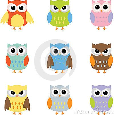 400x402 Owls, Color Owls Clip Art By Yulia87 On Dreamstime Owl Themed