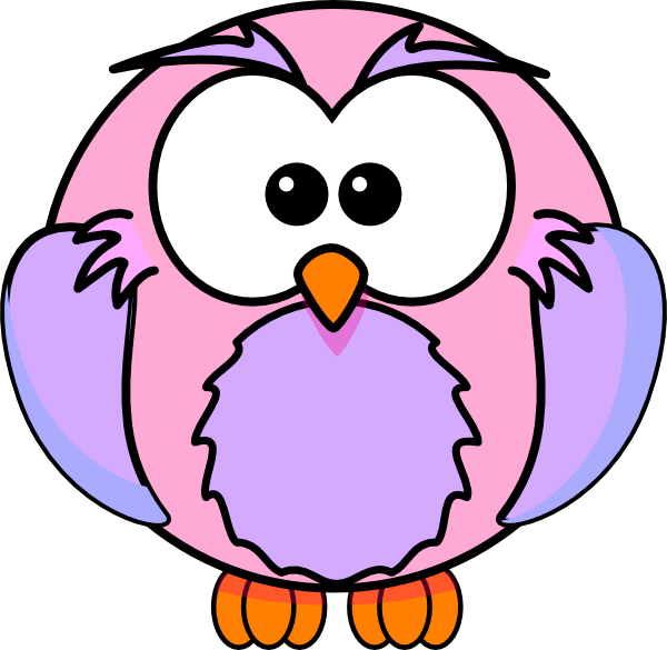 600x585 Pink Baby Owl Clipart Clipart Panda