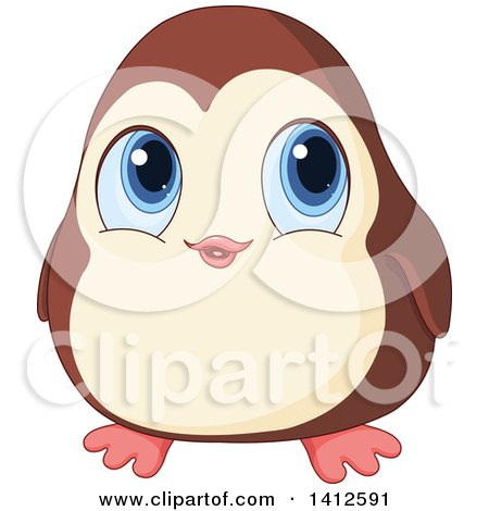 450x470 Clipart Of A Cute Baby Penguin Holding A Blank Sign