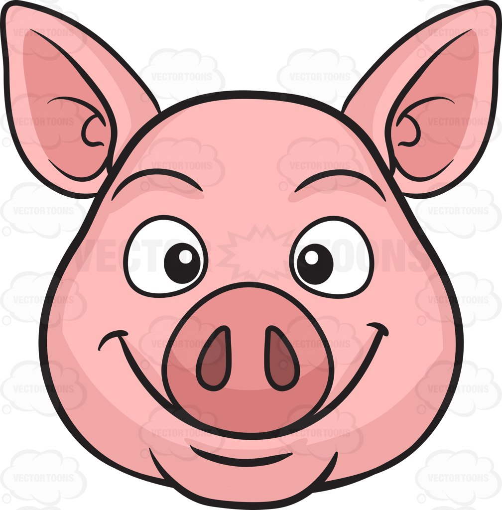 Cute Baby Pig Clipart