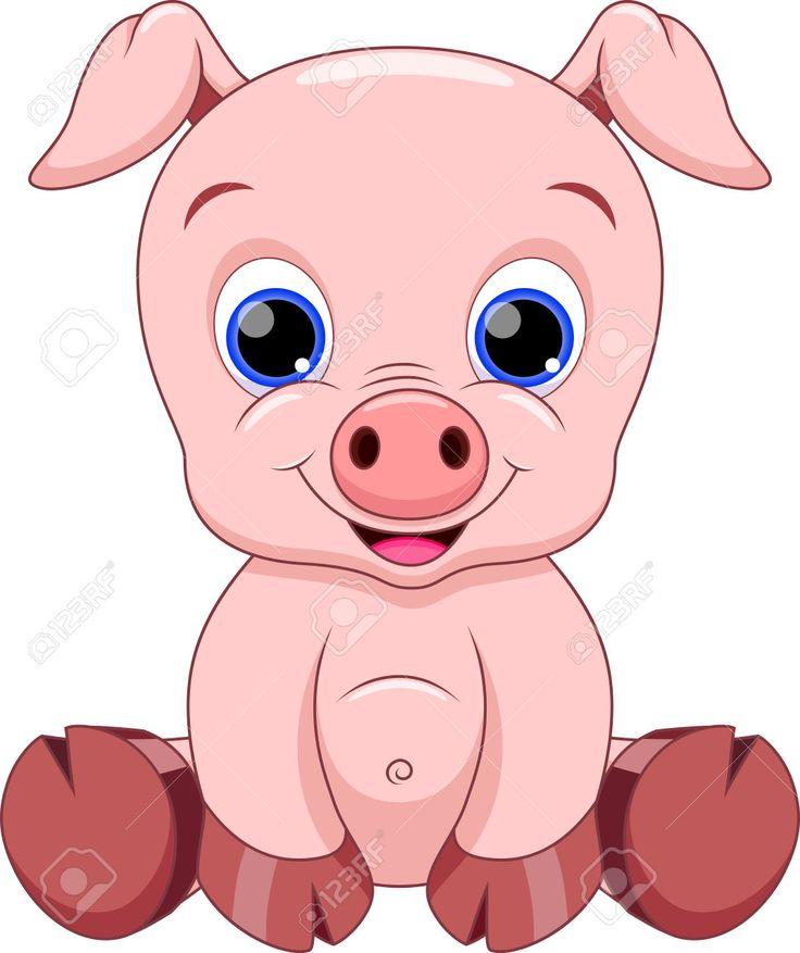 736x877 Cute Baby Pig Cartoon Drawings Cartoon, Babies