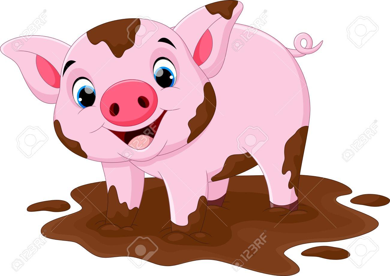 1300x921 Inspiring Cartoon Image Of A Pig Stock Vector Adorable Baby