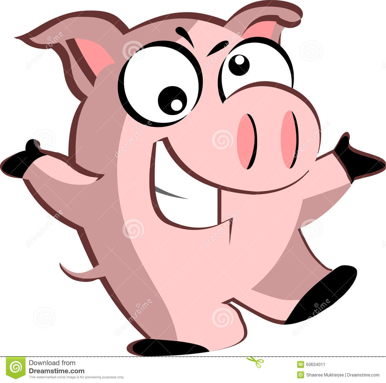 1300x1290 Reduced Pictures Of Cartoon Pig A Winking Clip