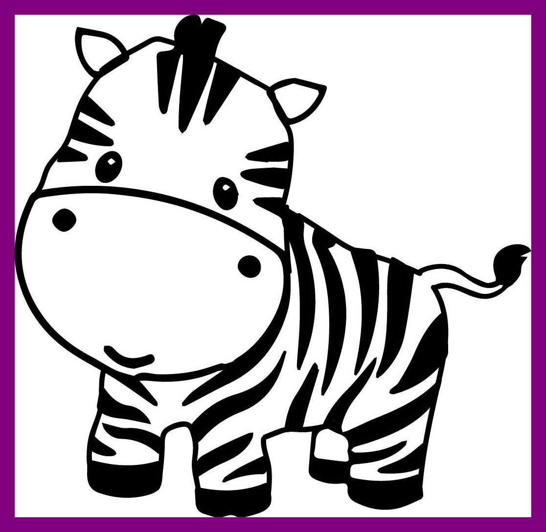 1116x1088 Cute Baby Animal Clipart Black And White