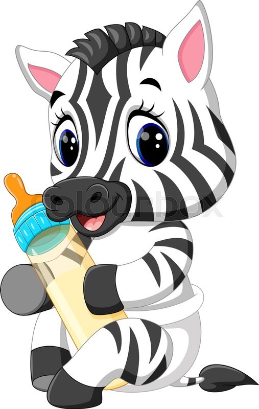 507x800 Illustration Of Cute Baby Zebra Stock Vector Colourbox