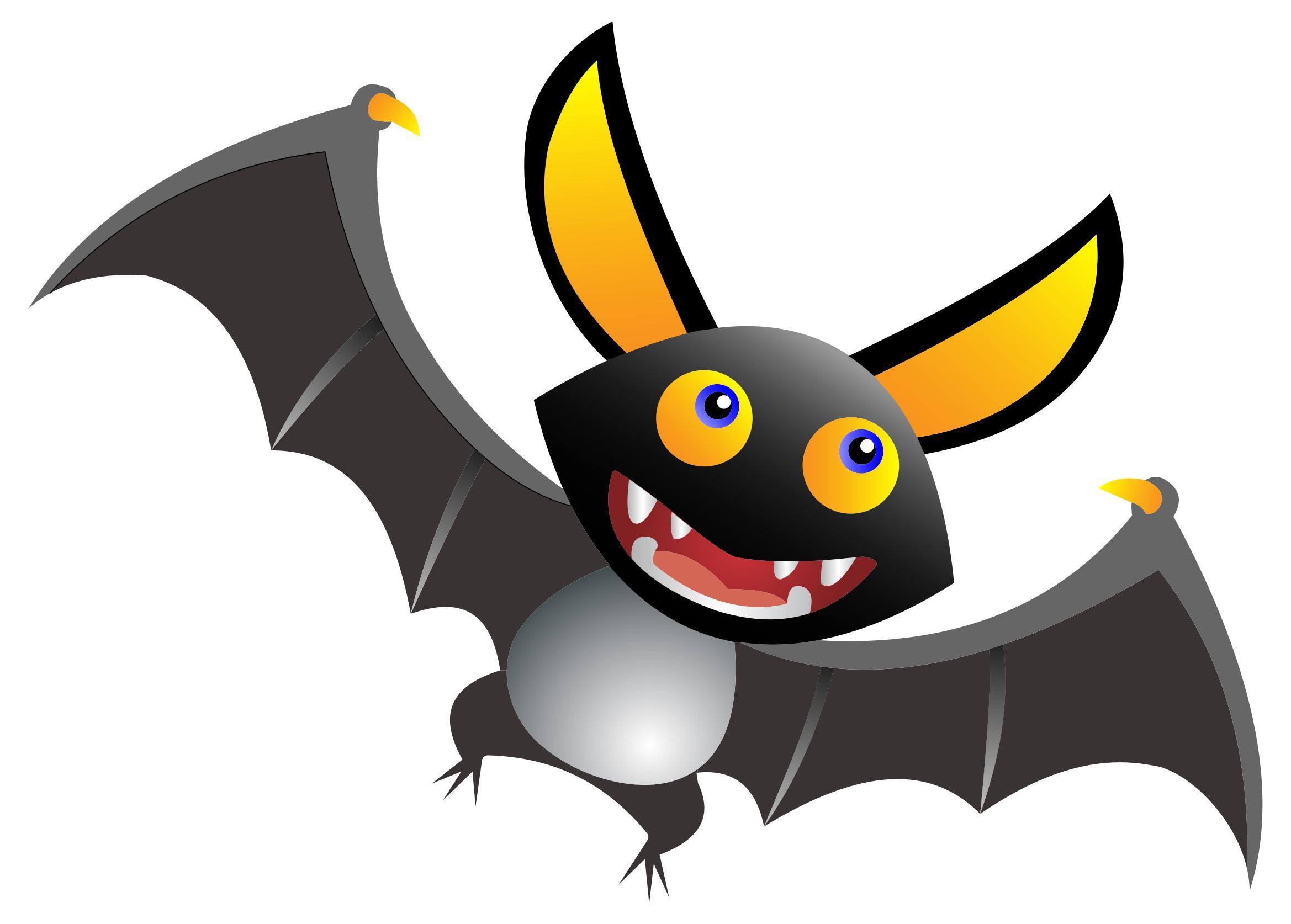 2338x1674 Cute Cartoon Bat Clipart