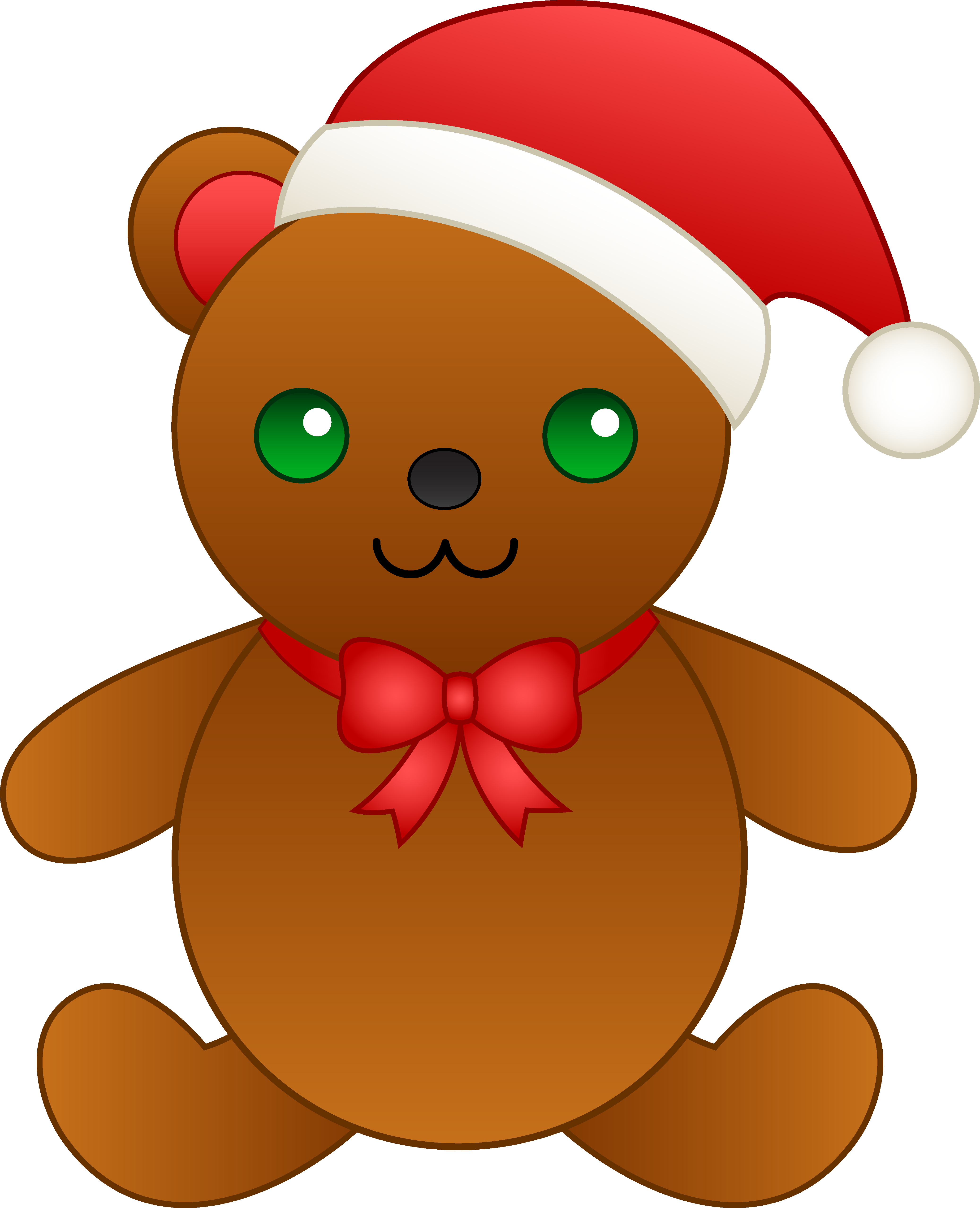 4147x5110 Christmas Teddy Bear With Santa Hat