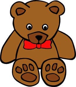 261x298 Simple Teddy Bear With Bow Clip Art Free Vector 4vector