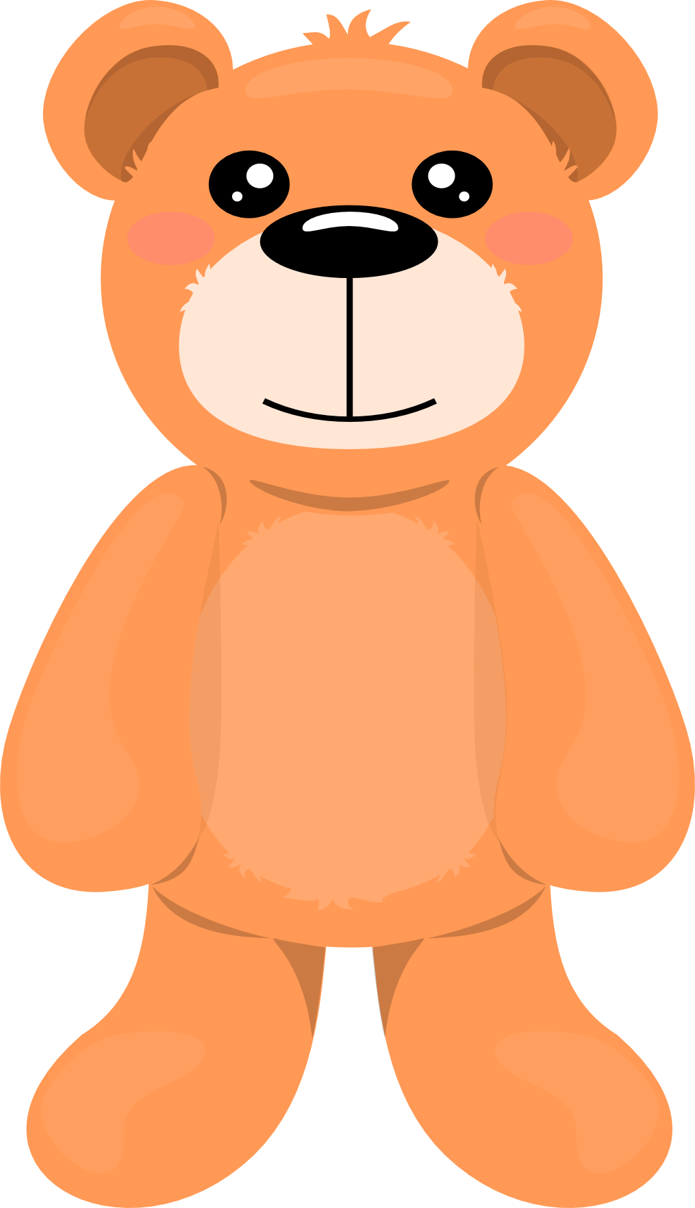 1015x1764 Teddy Bear Clipart Transparent Background