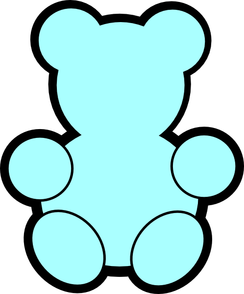 498x599 Blue Teddy Bear Clip Art