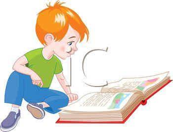 350x267 Cute Little Boy Reading A Storybook