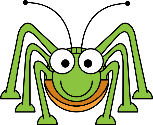 600x490 Cute Cricket Insect Clipart 5