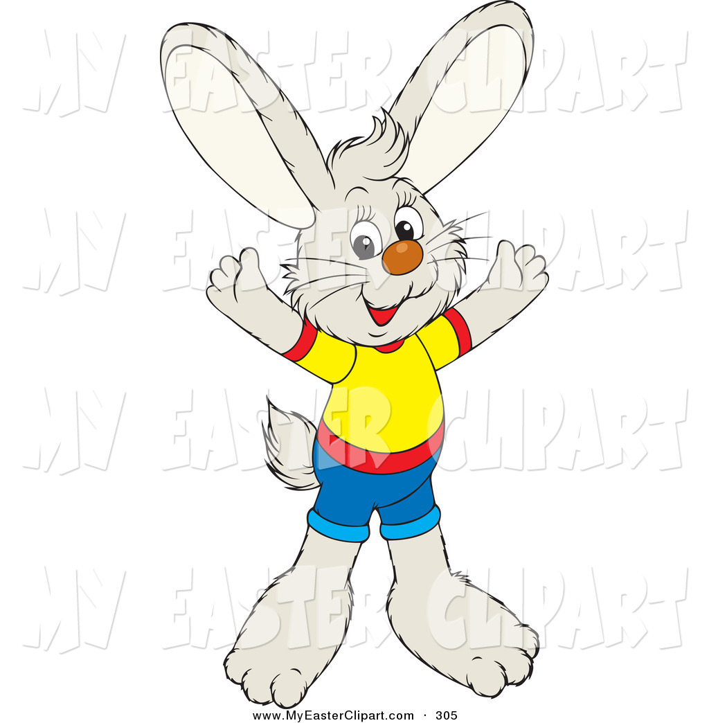 1024x1044 Cliprt Of Cutend Friendly Bunny Dressed In Shortsnd