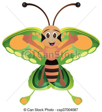 427x470 Cute Butterfly Cartoon. Cute Butterlfy Cartoon With Colorful