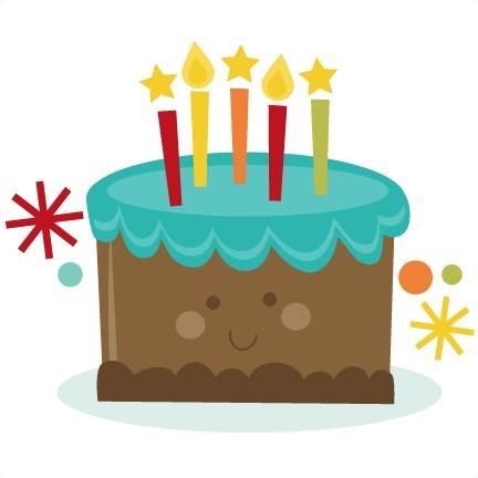 432x432 Cute Birthday Cake Clip Art