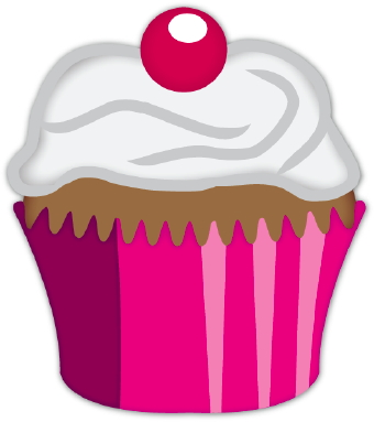 340x383 Image Of Cupcake Clipart