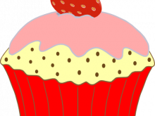 220x165 Strawberry Cake Clipart birthday cake wit strawberry isolated on