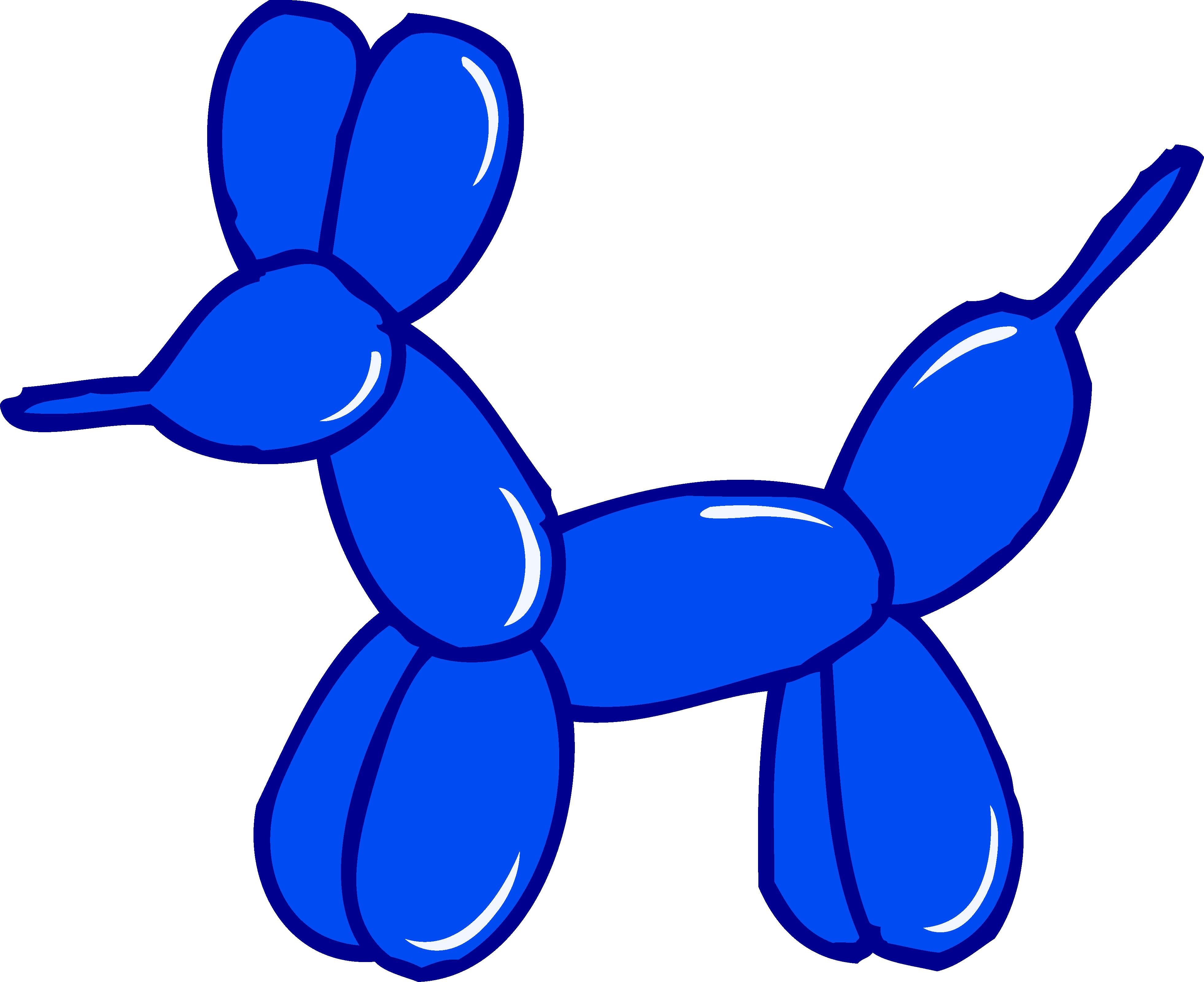 3923x3199 Cute Blue Balloon Animal